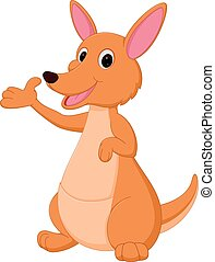 Kangaroo cartoon presenting