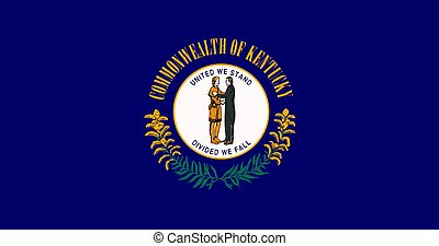 Vector Illustration of Kentucky state flag
