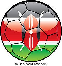Kenya flag on soccer ball - vector illustration of Kenya...