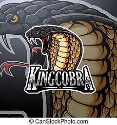 King cobra mascot logo design
