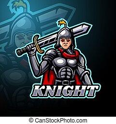 Knight esport logo mascot design