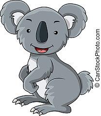 koala cartoon - vector illustration of koala cartoon