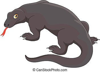 komodo dragon - vector illustration of komodo dragon