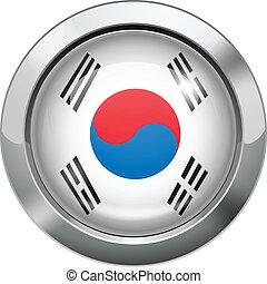 Korean flag metal button