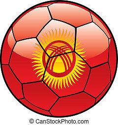Kyrgyzstan flag on soccer ball