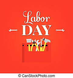 Vector illustration of Labour Day typography concept with...