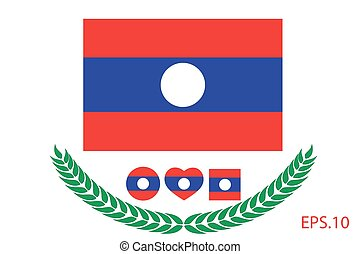Vector illustration of Laos flag. eps 10