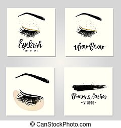Vector illustration of lashes set