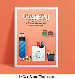 Laundry service banner design