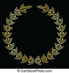 Vector illustration of laurels