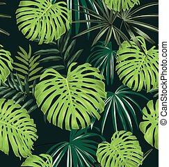 Vector Illustration of leave seamless pattern