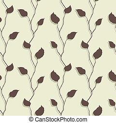 Vector illustration of leaves. (Seamless Pattern)