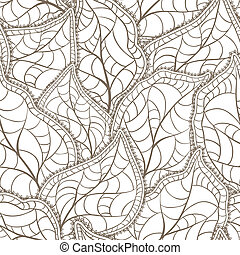 Vector illustration of leaves. (Seamless Pattern)