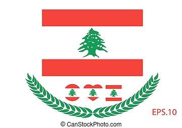 Vector illustration of Lebanon flag. eps 10