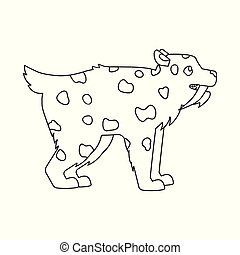 Vector illustration of leopard and tooth icon. Collection of leopard and animal stock symbol for web.