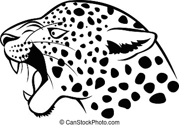 Leopard head icon
