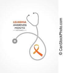 Vector Illustration of Leukemia Awareness month with orange ...