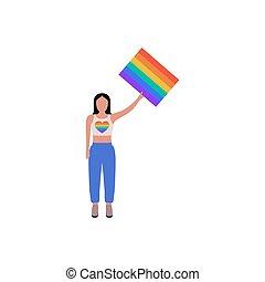 LGBT activist - Vector illustration of LGBT activist in ...