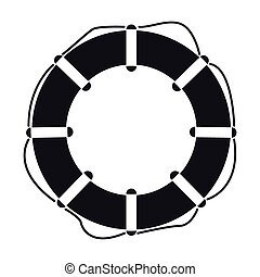 Vector illustration of lifebuoy