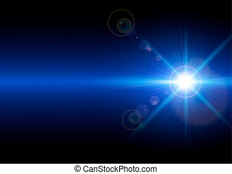 Vector illustration of light on blue background