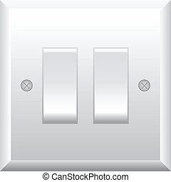 Vector illustration of light switch