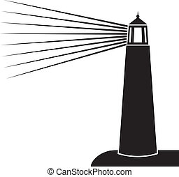 vector illustration of lighthouse (lighthouse icon,...