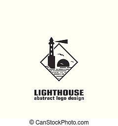 vector illustration of lighthouse.
