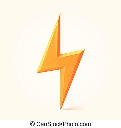Vector illustration of lightning on white background