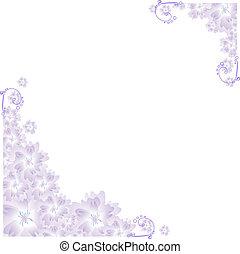 Vector illustration of lilac angular frame