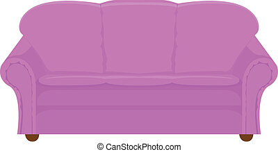 lilac couch - vector illustration of lilac couch