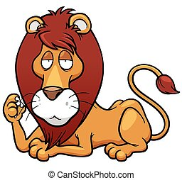 Lion - Vector illustration of Lion cartoon