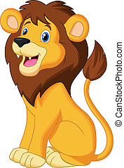 Lion cartoon sitting