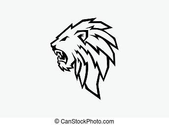 vector illustration of lion head