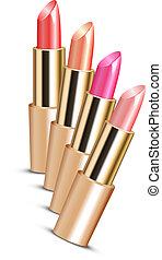 Vector illustration of lipsticks