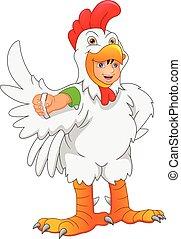 little boy wearing a chicken costume