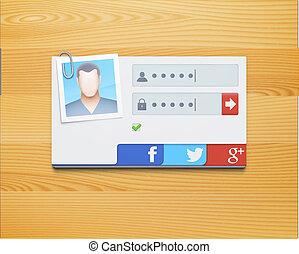 login screen concept - Vector illustration of login screen ...
