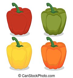 Vector illustration of logo for red pepper