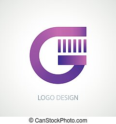 Vector illustration of logo letter g