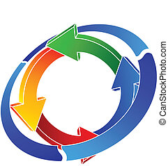 logo recycling - vector illustration of logo recycling
