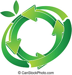 vector illustration of logo recycling