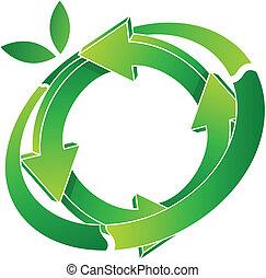 vector illustration of logo recycling