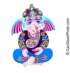 vector illustration of Lord Ganesha