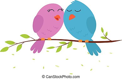 Love bird on a branch