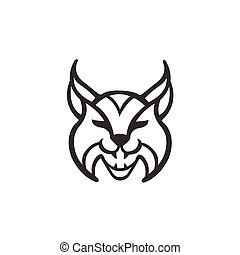 Vector Illustration of lynx Icon