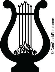 Vector illustration of lyre
