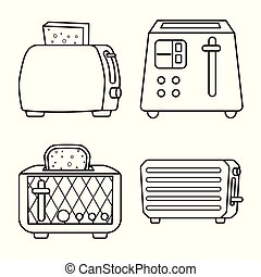 Vector illustration of machine and appliances symbol. Set of machine and household vector icon for stock.