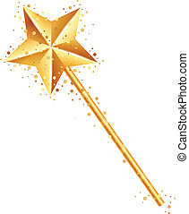 Vector illustration of magic wand