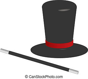 magician hat and wand