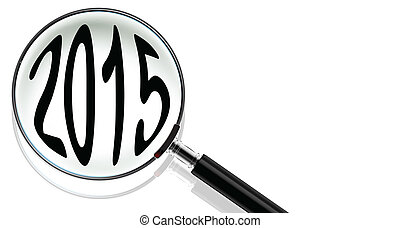 Magnifying Glass with 2015 concept