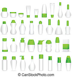 vector illustration of makeup cosmetic bottles